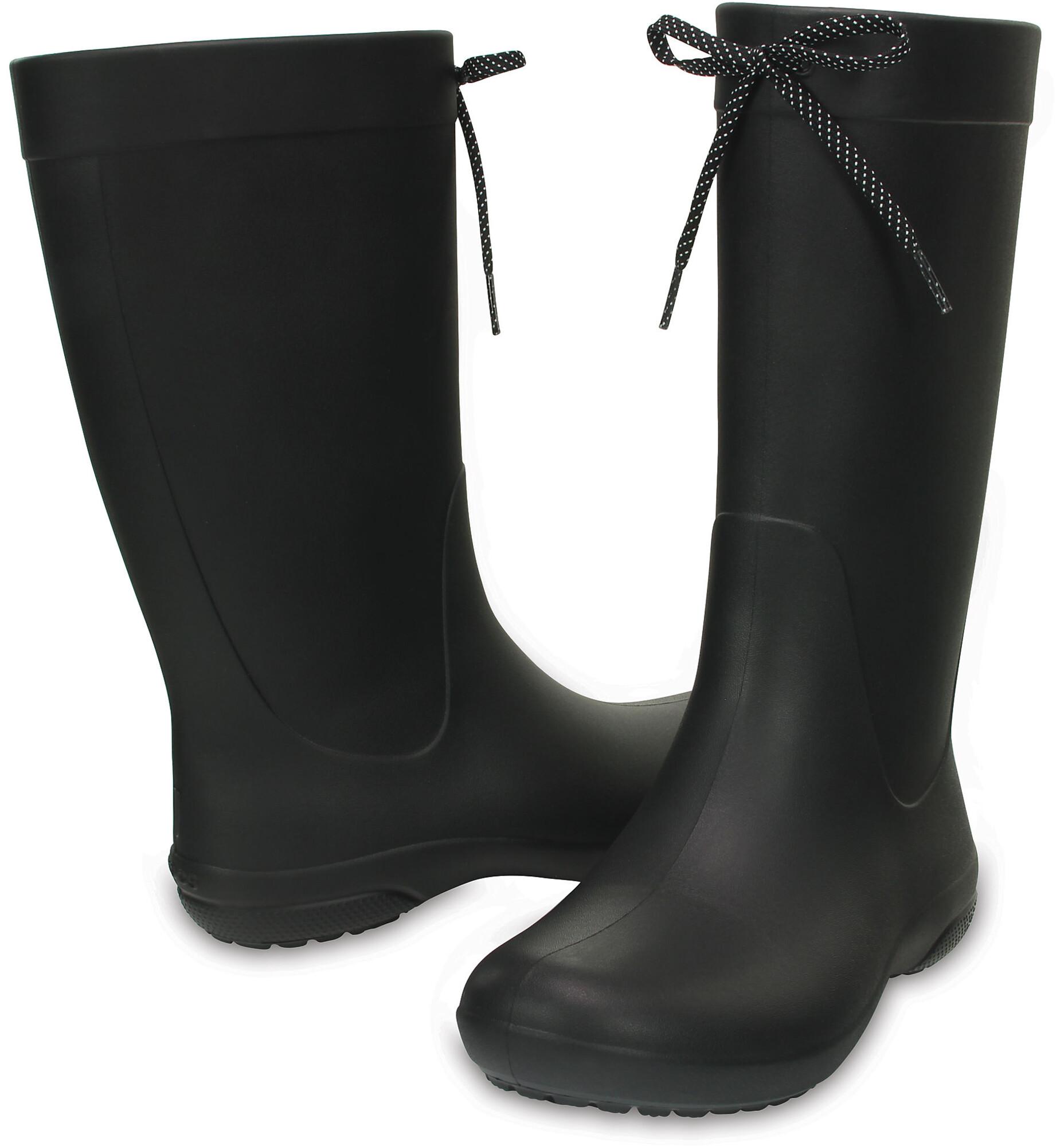 Crocs Freesail Gummistøvler Damer sort | Find outdoortøj, sko & udstyr på nettet | CAMPZ.dk